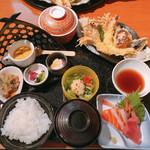 海鮮居酒屋 海老蔵 - 天ぷら御膳 (税込1814円)