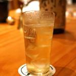 魚料理と蔵元焼酎 中俣酒造本店 銀座 茂助 - サントリー山崎のダブルのハイボール