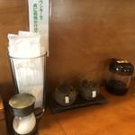 さぬきうどん 藤の家 - 調味料