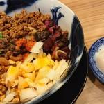 担担麺専門店 DAN DAN NOODLES. ENISHI - 担々麺中辛温玉セット♪