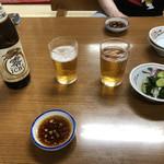 王味 - ノンアルコールビール+お通し