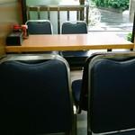 やしろ食堂 - テーブル席から外への眺望