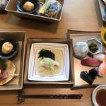 はるた - 三段重ランチ  握り寿司