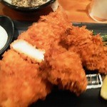 新宿さぼてん - ロースカツと牡蠣フライ