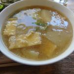 アサンテ・サーナ - 日替わり雑穀プレートにつく味噌汁