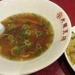 大阪王将 - スープ、残せる/