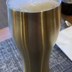 クッチーナイタリアーナ 幸せのかけら - ドリンク写真:喉を潤すビール