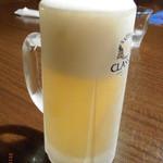 まさ屋 - キンキンの生ビール!