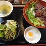 昭和大衆ホルモン - ハラミ丼+温玉