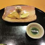 109505682 - 揚げ物:鱧とゴボウ&ズッキーニ