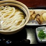 うどん職人 和製麺 - 冷とりちくたま天かけ大    970円
