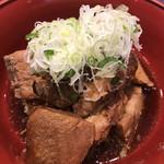 グルメ廻転寿司 まぐろ問屋 めぐみ水産 - あら煮190円。こちらも凄まじい量です(^。^)。しかも、全てが可食部です(^。^)