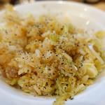 らあめん工房 雪濃湯 - 料理写真:ガーリックパウダーと胡椒をまぶしたあぶら飯