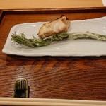 御りょうり屋 伊藤 - 鯛の幽庵焼と山菜の王様、しおでの天ぷら