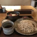 江戸前蕎麦 薫庵 - 2種の日替わりランチから、ざるそばと鮪山かけ丼セット、850円です(2019.6.12)