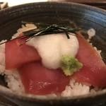 江戸前蕎麦 薫庵 - 小丼ですが、鮪の山かけ丼、とても美味しかったですよ!(2019.6.12)