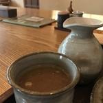江戸前蕎麦 薫庵 - やや、とろみのある蕎麦湯が美味しいです!高山の「須美久」を彷彿させます(2019.6.12)