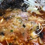 ラーメン山岡家 - スープにTKGをドボン