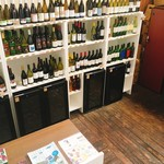 カフェ&ワインバー オーデパール - ワイン類の販売もあり。購入して店内でも飲むこともできるみたい。