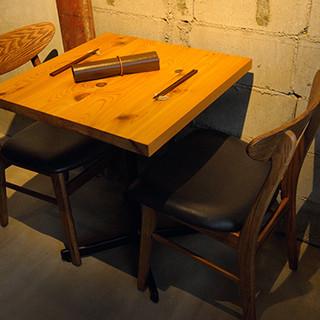 2名様テーブルになります。