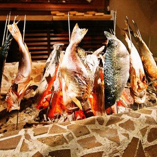 旬な魚を丸ごと美味しく食べられる原始焼き
