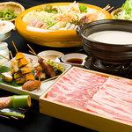 豚福本店 - 料理写真:しゃぶしゃぶ&逸品料理の豚福コースは4000円~