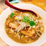煮干麺 新橋 月と鼈 - 濃厚煮干そば(850円)