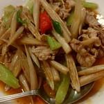 レーロイ - ハスの茎と豚肉の炒め¥1300-