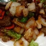 レーロイ - 牛肉の黒胡椒炒め¥1350-