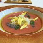 109557290 - 魚介と冷製のトマトスープ ガスパッチョ