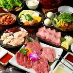 本格七輪 炭火焼肉 炭咲 - 4,500円コースイメージ(料理のみ)