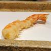 nihombashisonoji - 料理写真:車海老 2尾  駿河湾の塩で、1つ目は半生