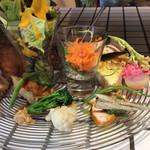 カタツムリ ラボ - 佐野産野菜を中心としたプレートランチ(1400円)