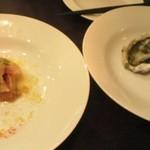 10957127 - 牡蠣&ぶりのカルパッチョ。