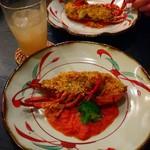 菜寿 - オマール海老とモッツアレラの香草パン粉焼き
