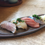 升風庵 - 料理写真:地魚にぎりずしせっと(寿司)