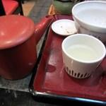 華元 - 最後は蕎麦湯をいただいてお腹を休めました・・・・