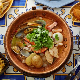 一番人気の大航海コースは温菜と魚料理がチョイスできます!