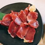 109590716 - 鶏砂肝の刺身(税込230円)