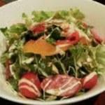 和み鉄板 きた - 和みサラダ…パプリカひとつにも丁寧な下拵えがしてあります。