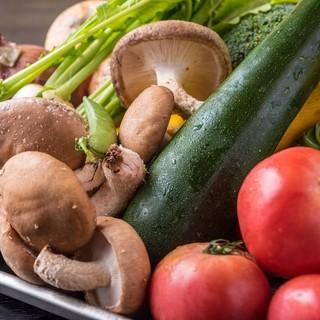 契約農家から◎野菜が主役のフルコースをお召し上がりください