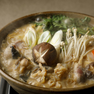 大洗名物鮟肝濃厚スープの『あんこう鍋』