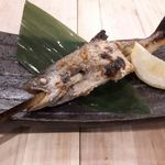 本日の川魚焼き