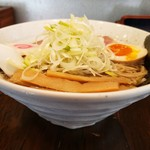 まつおぶし - 煮干し中華そば750円+ネギ50円!