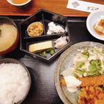 あみ源 - 日替フライ定食