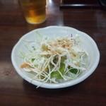 龍盛菜館 - セットのサラダ