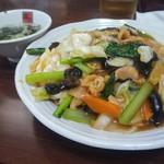龍盛菜館 - 五目入りあんかけご飯