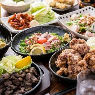 唐揚げや鶏グリルステーキなど食べ放題と3h飲み放題3000円