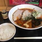 鬼がらし - 味噌大辛太麺870円+平日ライス無料+ニンニク