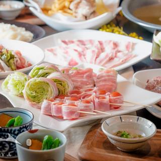 【お得なセット】野菜巻き串のお食事コースは2200円でご提供